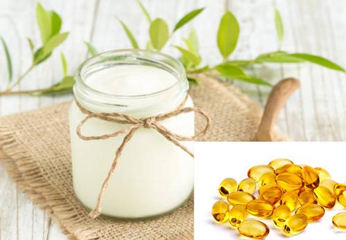 mặt nạ vitamin e và sữa chua