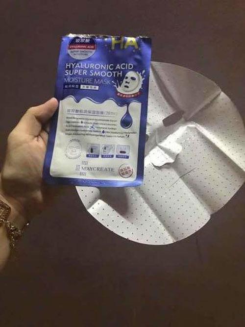 mặt nạ ha hyaluronic acid super smooth moisture mask