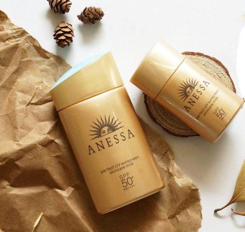 kem chống nắng anessa perfect uv sunscreen skincare milk cho da dầu mụn