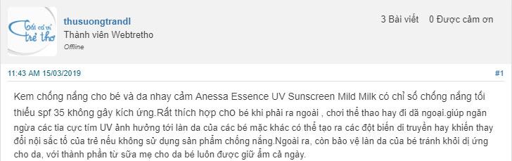 kem chống nắng anessa review webtretho