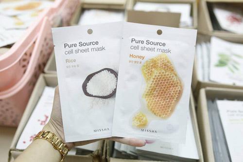 mặt nạ missha pure source cell sheet mask gạo